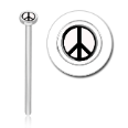 316L Surgical Steel 2mm Peace Nose Stud Ring Choose Your Style 20G