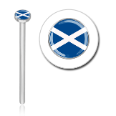 316L Surgical Steel 2mm Scotland Flag Nose Stud Ring Choose Your Style 20G