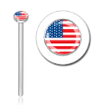 316L Surgical Steel 2mm U.S.A. Flag Nose Stud Ring Choose Your Style 20G