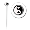 316L Surgical Steel 2mm Yin Yang Nose Stud Ring Choose Your Style 20G