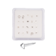 20 Pack 925 Sterling Silver Straight Nose Studs Mixed Sizes and Designs