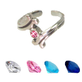 **BLOW OUT SALE** 925 Sterling Silver Gemstone Toe Ring
