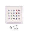 20 Pack 925 Sterling Silver Straight Nose Studs Rings 1mm or 2.5mm 4 Clawed Stones