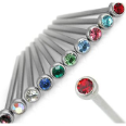 **BLOW OUT SALE** 316L Surgical Steel Fishtail Nose Stud 3mm Press Fit Gem 20G