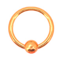 "**BLOW OUT SALE**Nose Ring Titanium Septum 5/16"" 7.9mm Orange 18G"