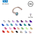 **BLOW OUT SALE** 316L Surgical Steel Nose Screw Choose Your Color 1.5mm 18G