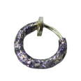 **BLOW OUT SALE** 925 Sterling Silver Sparkly Lavendar Light Purple Fake Nose Ring Hoop 5/16""