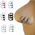 "**BLOW OUT SALE**  316L Surgical Steel Triple Fake Captive Nose Ring Hoop Anodised - Choose your Color 5/16"" 16G"