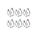 "**BLOW OUT SALE** 316L Surgical Steel Double Fake Nose Ring Hoop Anodised - Choose your Color 5/16"" 18G"