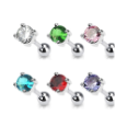 **BLOW OUT SALE** Ear Cartilage Tragus Helix Jewelry 5mm Round CZ - Choose Your Color 16G