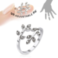 **BLOW OUT SALE** Rhodium Plated Brass Ring CZ Vine