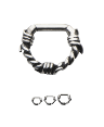 **BLOW OUT SALE** 316L Surgical Steel Cast Septum Clicker Daith Nose Ring Hoop Barbed Wire 14G