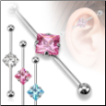Industrial Barbell Ear Cartilage Jewelry