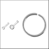 **BLOW OUT SALE** Nose Bone Hoop Ring Steel Mixed 3 Pack 18G