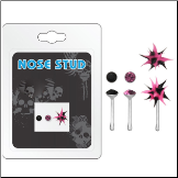 **BLOW OUT SALE** 925 Sterling Silver Nose Bones Mixed 3 Pack 22G