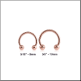 **BLOW OUT SALE**  Rose Gold PVD Coated 316L Surgical Steel Horseshoe Curved Barbell CBB 16G