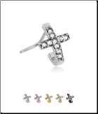 316L Surgical Steel Nose Stud Nose Hugger- Choose Your Style Cross 20G