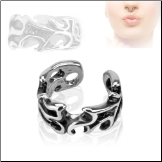 **BLOW OUT SALE** Fake Septum Clicker Hanger Clip On Non Piercing Nose Ring Hoop Tribal
