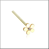 Gold Plated 316L Surgical Steel Plumeria Flower Nose Stud Choose Your Style 20G