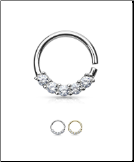 "14KT Solid White or Yellow Gold Nose Ring Hoop 3/8"" 16G"