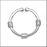 925 Sterling Silver Fake Septum Clicker Hanger Clip On Nose Ring Hoop Wire Wrapped