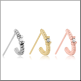 316L Surgical Steel Nose Hugger Single Solitaire Stud Ring - Choose Your Style, Color & Gauge