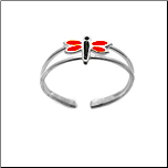 **BLOW OUT SALE** 925 Sterling Silver Dragonfly Toe Ring