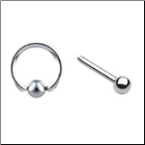 **BLOW OUT SALE** 316L Surgical Steel Nose Ring Hoop Nose Bone Ball 2 Pack 20G