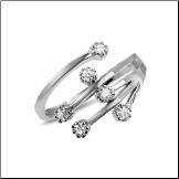 925 Sterling Silver Diamond CZ Toe Ring