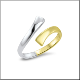 10KT White and Yellow Gold Toe Ring