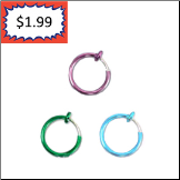 **BLOW OUT SALE** 925 Sterling Silver Fake Nose Ring Hoop 3/8 Choose Your Color