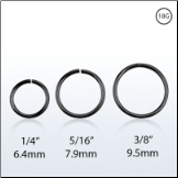 **BLOW OUT SALE** Nose Ring Continuous Seamless Hoop Black Plated Sterling Silver -Choose Your Size 18G