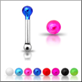 925 Sterling Silver Nose Bone 1.5mm Colored Ball
