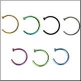 "Nose Ring Titanium Hoop 5/16"" Choose Your Color 18G"