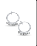 "**BLOW OUT SALE** Spring Loaded Fake Earrings 3/8"" Clip On CZ"