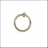 **BLOW OUT SALE** Gold Plated Sterling Silver Fake Large Nose Ring Hoop 3/8""