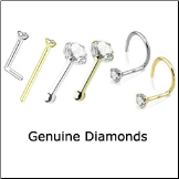 Genuine Diamond Nose Jewelry