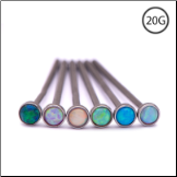 316L Surgical Steel Nose Stud - Choose Your Style 2mm Opal 20G