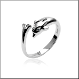 925 Sterling Silver Toe Ring Dolphin