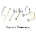 Geniune Diamond Nose Rings