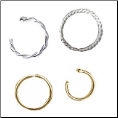 Nose Rings White Gold & Yellow Gold