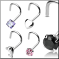 Sterling Silver Nose Screws Rings