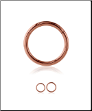 Rose Gold 316L Surgical Steel Hinged Septum Clicker Choose Your Size 16G