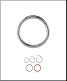Titanium Hinged Septum Clicker Choose Your Color & Size 16G