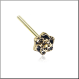 Gold Plated 316L Surgical Steel Camellia Flower Nose Stud Choose Your Style 20G