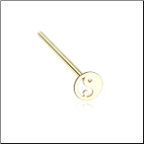 Gold Plated 316L Surgical Steel Yin Yang Nose Stud Choose Your Style 20G