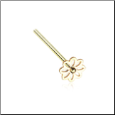 Gold Plated 316L Surgical Steel Daisy Flower Nose Stud Choose Your Style 20G