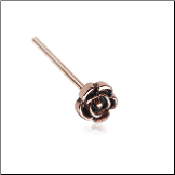 Rose Gold 316L Surgical Steel Rose Flower Nose Stud Choose Your Style 20G