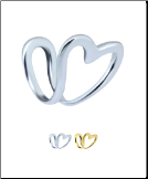 925 Sterling Silver or Gold Plated Fake Nose Ring, Ear Cuff, Tragus Clip On Non Piercing Hoop Heart