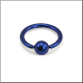"**BLOW OUT SALE** Nose Ring Titanium Septum 5/16"" 7.9mm Dark Blue 18G"